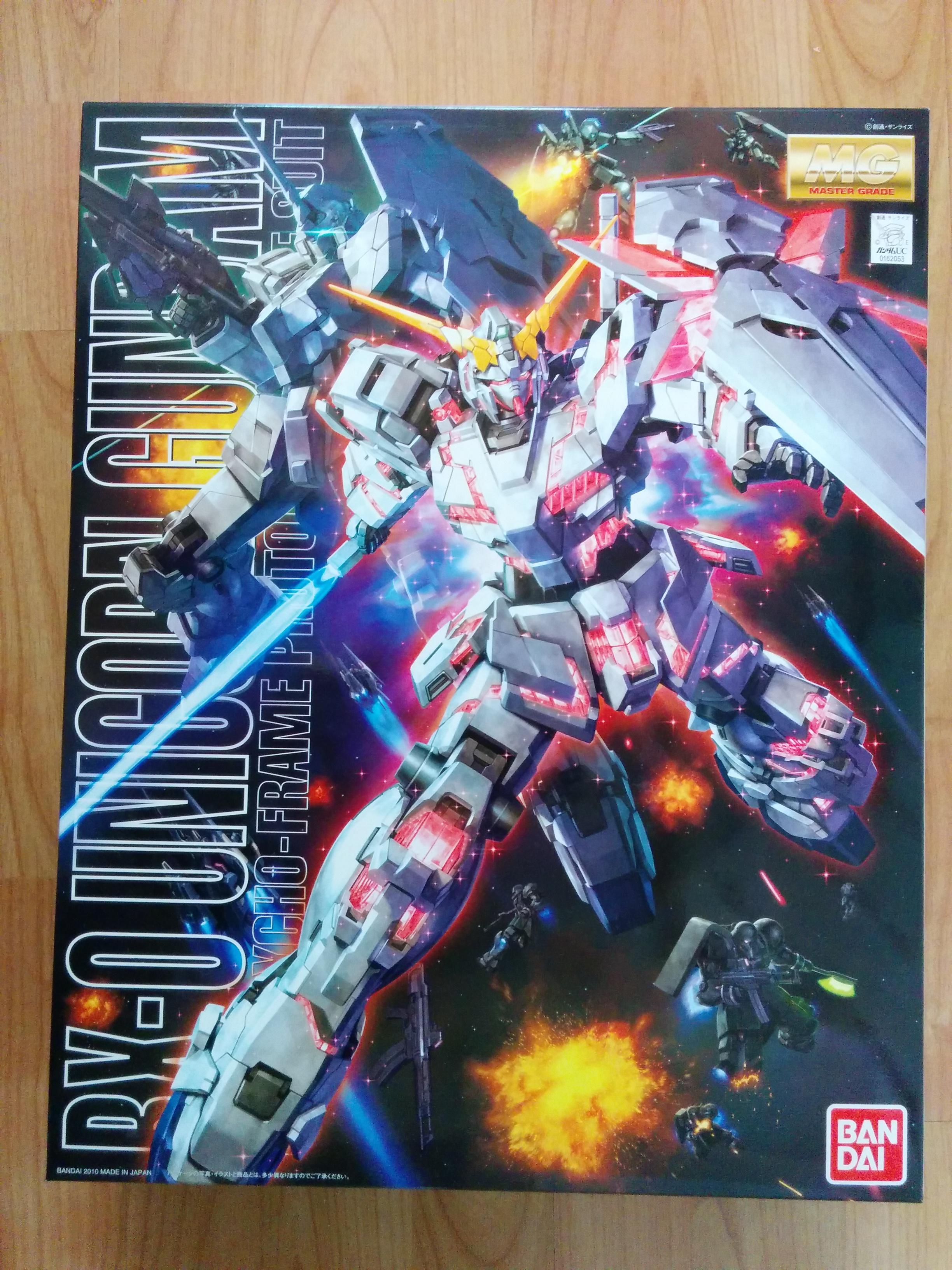 Mg 1 100 Rx 0 Unicorn Gundam Full Psycho Frame Prototype